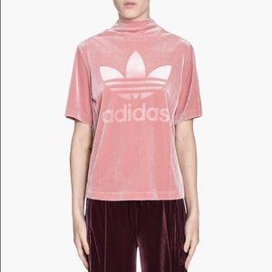 Adidas Velvet Vibes Rose Gold Boxy Top XL